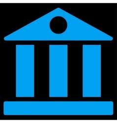 Bank flat blue color icon vector