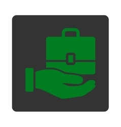 Accounting icon from commerce buttons overcolor vector