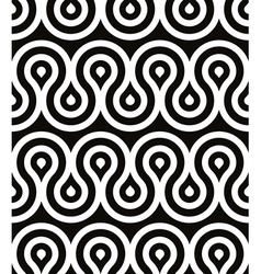 Curls seamless pattern black and white retro style vector