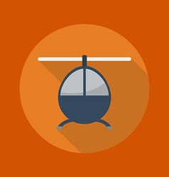 Transportation flat icon helicopter vector