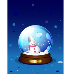 Snowglobe with snowman vector
