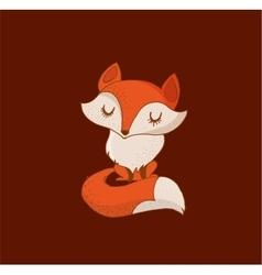 Fox cute lovely and greetin card vector