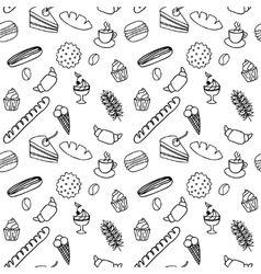 Hand drawn seamless pattern for adult coloring vector image