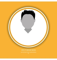 User profile design vector