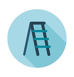 Ladder stepladder stair flat icon vector