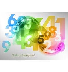 abstract shape with numbers rainbow vector image