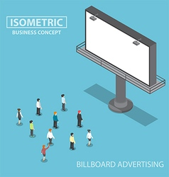 Isometric business people standing in front of lar vector