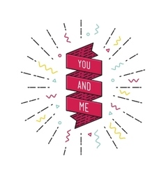 You and me inspirational vector
