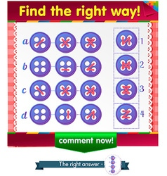 Find the right way button vector