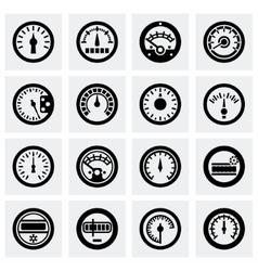 Meter icon set vector