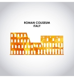 Roman coliseum icon italy culture design vector