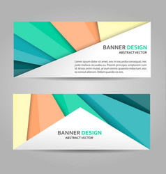 Abstract banner line design vector