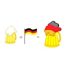 Beer and german flag mathematical formula beer mug vector