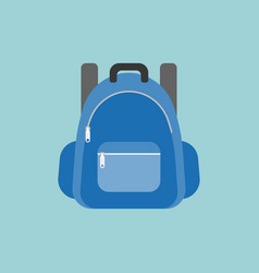 blue rucksack or backpack vector image vector image