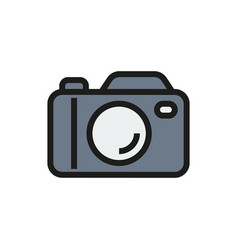 camera icon on white background vector image vector image