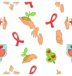 Charity pattern cartoon style vector