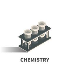 chemistry icon symbol vector image vector image