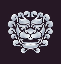 Chinese lion logo vector image vector image