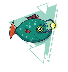 deep-sea fish cartoon vector image vector image