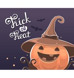 halloween of decorative orange pumpkin in wi vector image