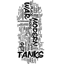 Modern war tanks text background word cloud vector