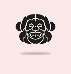 Monkey symbol vector