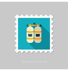 Oxygen tank flat stamp summer vacation vector