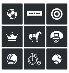 Set of Sport Icons Soccer Biathlon vector image