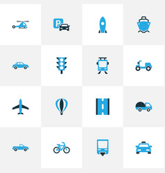 Shipment colorful icons set collection of vector