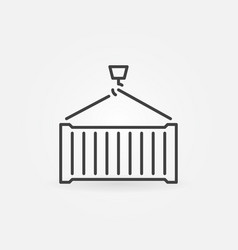 shipping container icon or symbol vector image