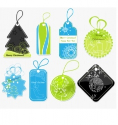 Stylish christmas price tags vector