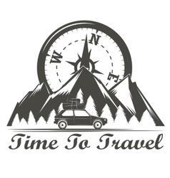 Wilderness travel emblem vector image