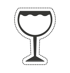 wine cup drink isolated icon vector image