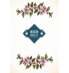 With typography and floral elements vector