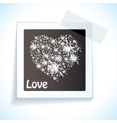 Paper tape love tag vector