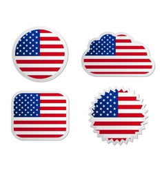 Usa flag labels vector
