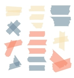 Colorful adhesive tape masking pieces set vector