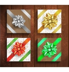 Set of Gift boxes - christmas and birthday giftbox vector image