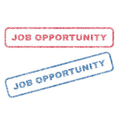 Job opportunity textile stamps vector