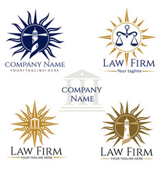 law firm logos vector image