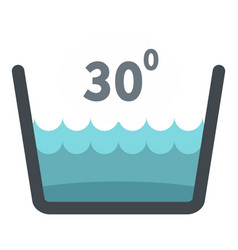 Delicate gentle thirty degrees icon isolated vector