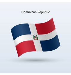 Dominican republic flag waving form vector