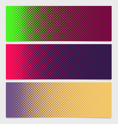 Halftone circle pattern banner template - graphic vector