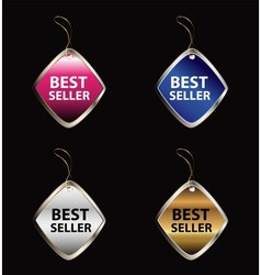 Best seller label tag vector