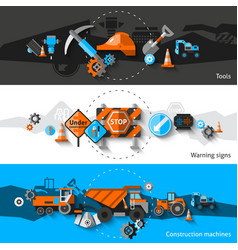 Road repair banners vector