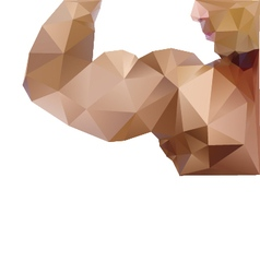 Muscle man abstract isolated vector