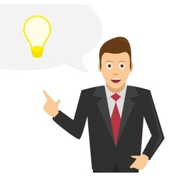 Businessman talks about his ideas vector