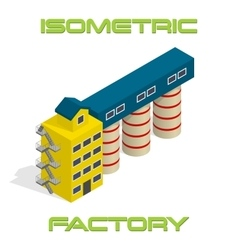 Isometric modern factory vector