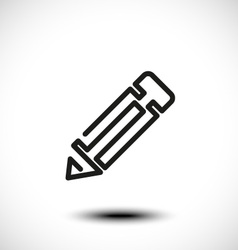 Abstract pencil icon vector image