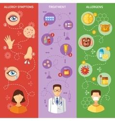 Allergy symptoms vertical banners vector